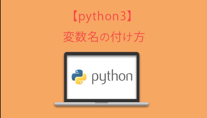 python3 変数名の付け方